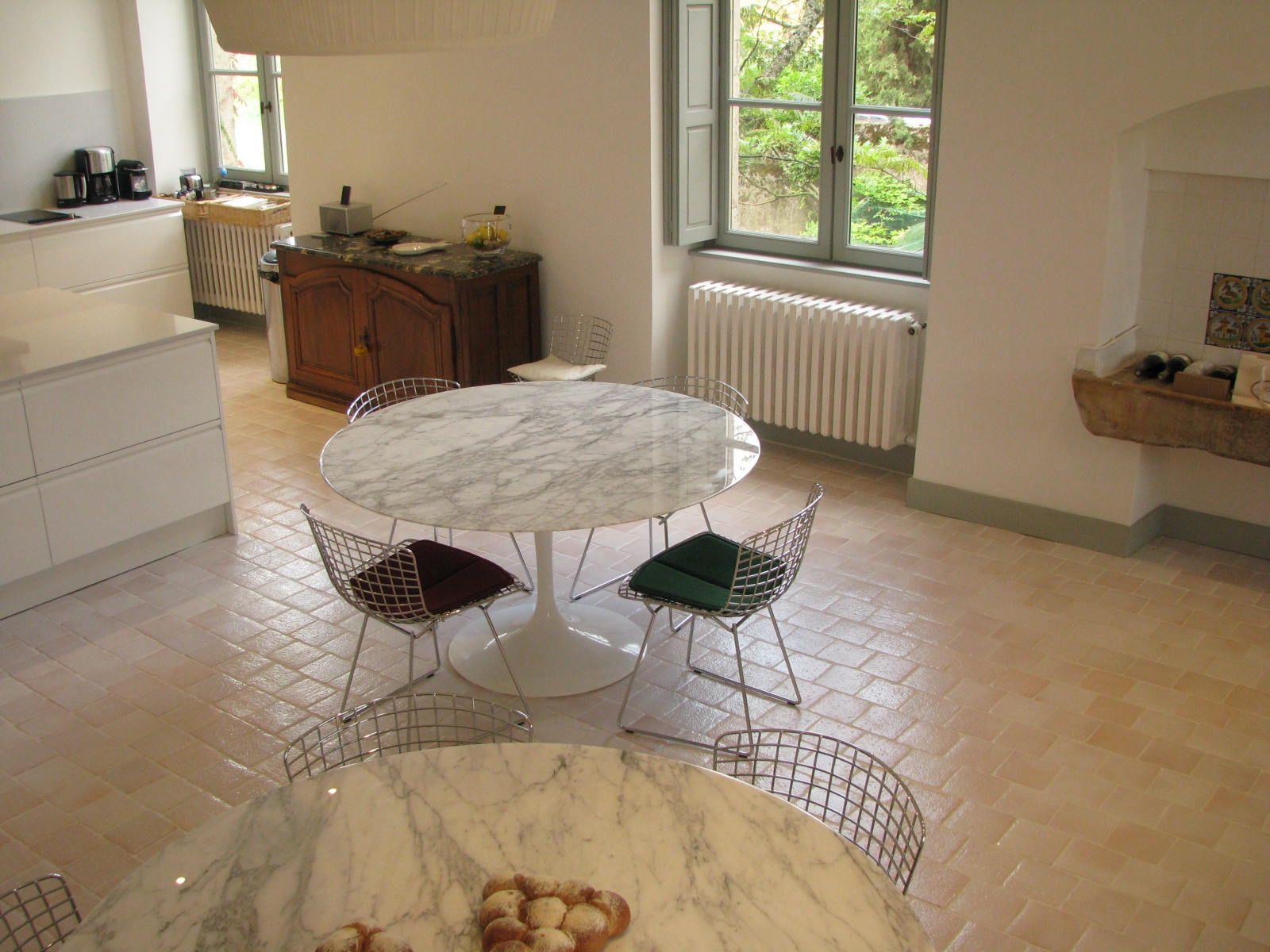 Terracotta floor tiles wooden furniture stock photos amp terracotta - Sol Terre Cuite Maill E 16x16cm