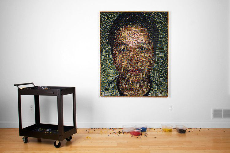 Artist Eric Daigh used exactly 22,765 pushpins to create a portrait of Pinterest founder Ben Silbermann for a feature in Fast Company's 2012 Design Issue. Co.Design interviewed Eric Daigh to learn more about his creative process.