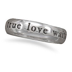 True Love Waits Sterling Silver Ring - Size 7