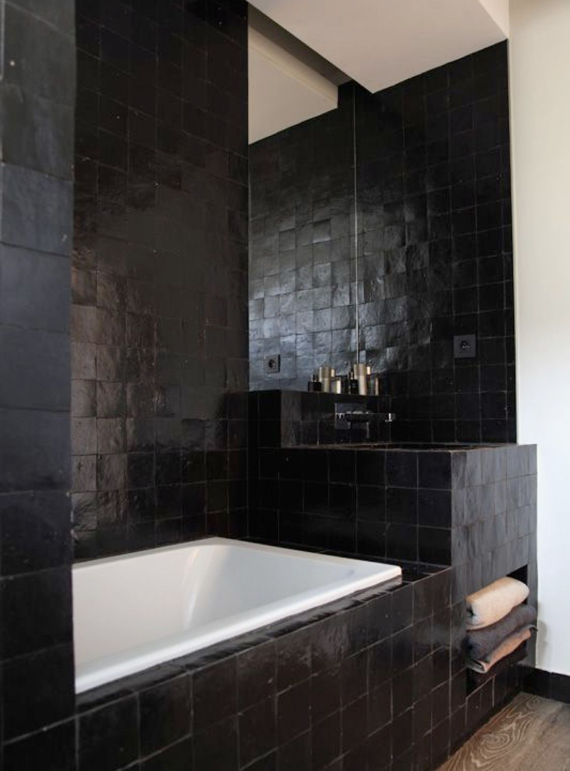 Badkamertegels Zwart Wit.Badkamer Ideeen Badkamertrends Bad Badkamertegels