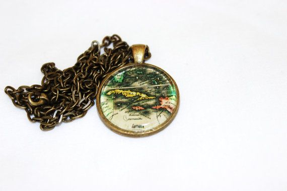 Cuba map necklace map necklace world map necklace by explorebelievecreate on etsy worldmapjewelry worldmapnecklace mapjewelry map jewelry etsy etsyshop pendantnecklace gumiabroncs Gallery