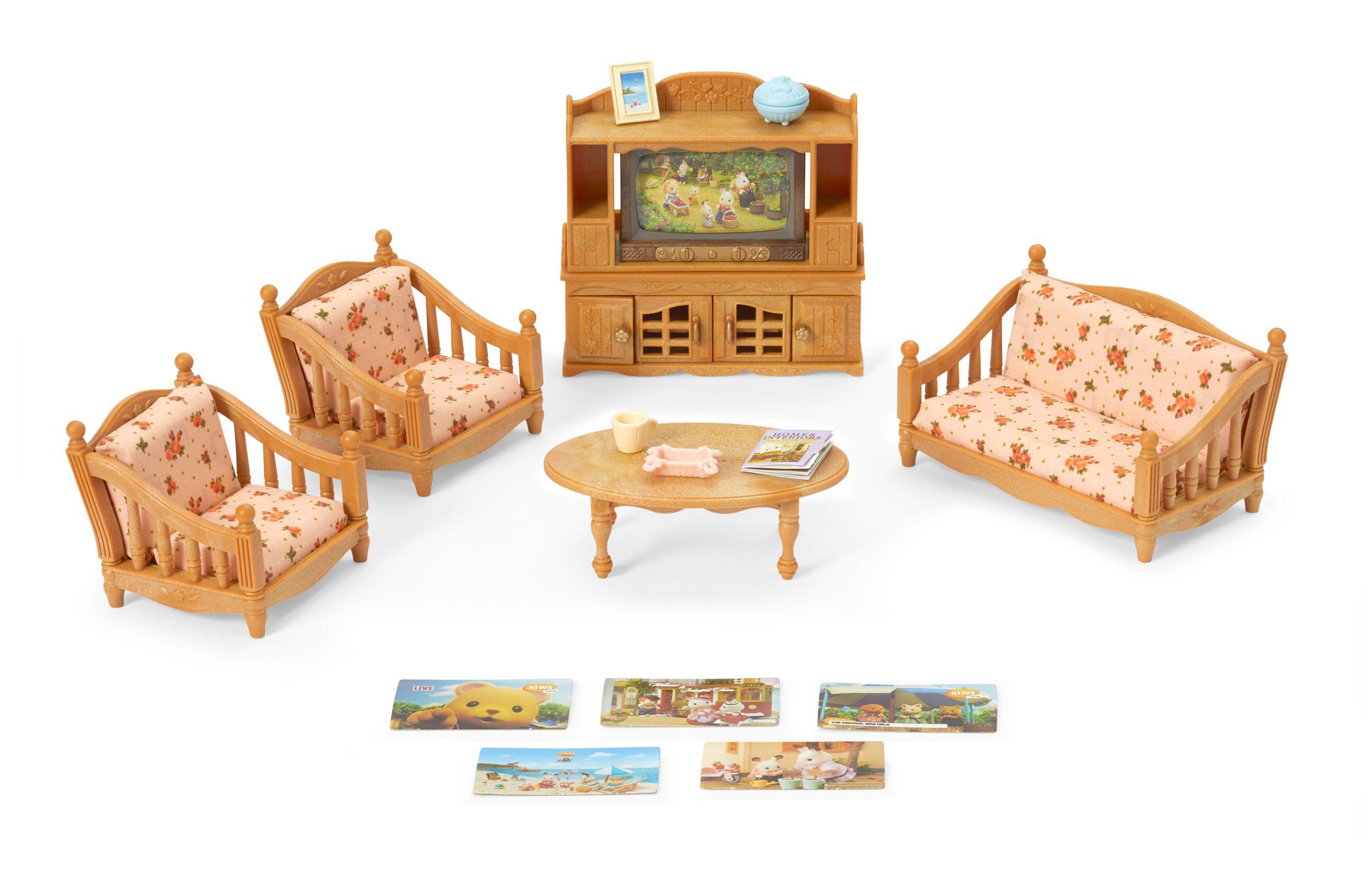 Calico Critters Comfy Living Room Set Furniture Accessories Walmart Com In 2020 Living Room Sets Comfy Living Room Calico Critters Furniture