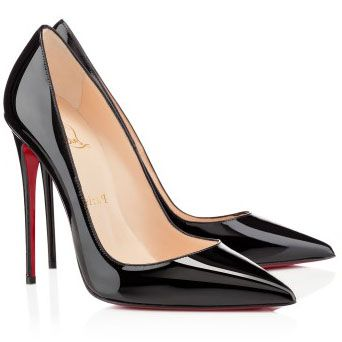 Christian Louboutin So Kate 120mm Patent Leather Pointed Toe Pumps Black