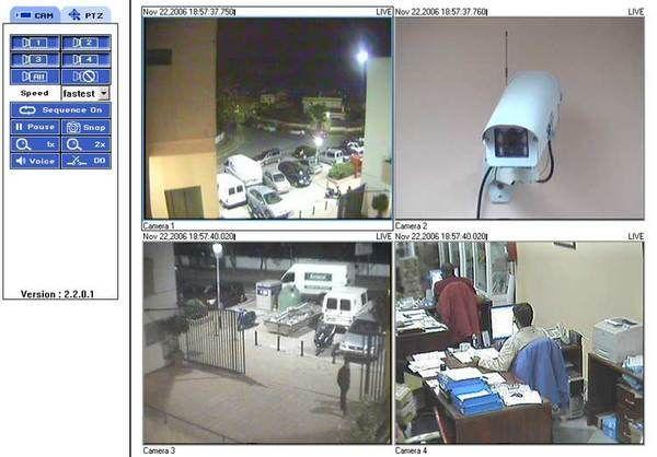 Cámaras, vigilancia, observando y cuidando algo.