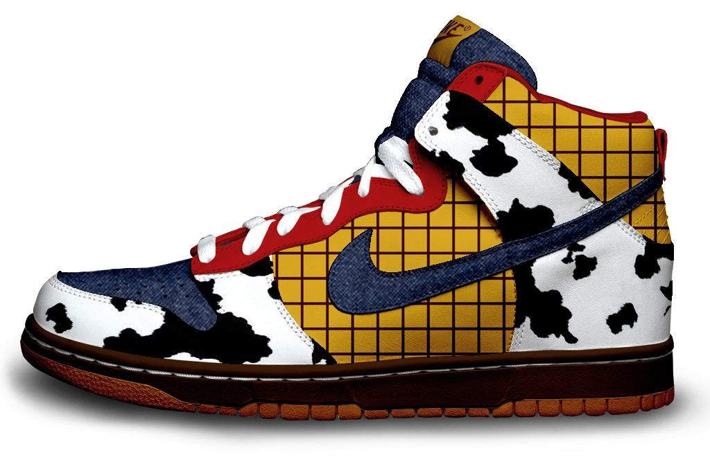 Nike kicks modeled after Toy Story's Woody. Ok, these are ridiculous but  nonetheless creative