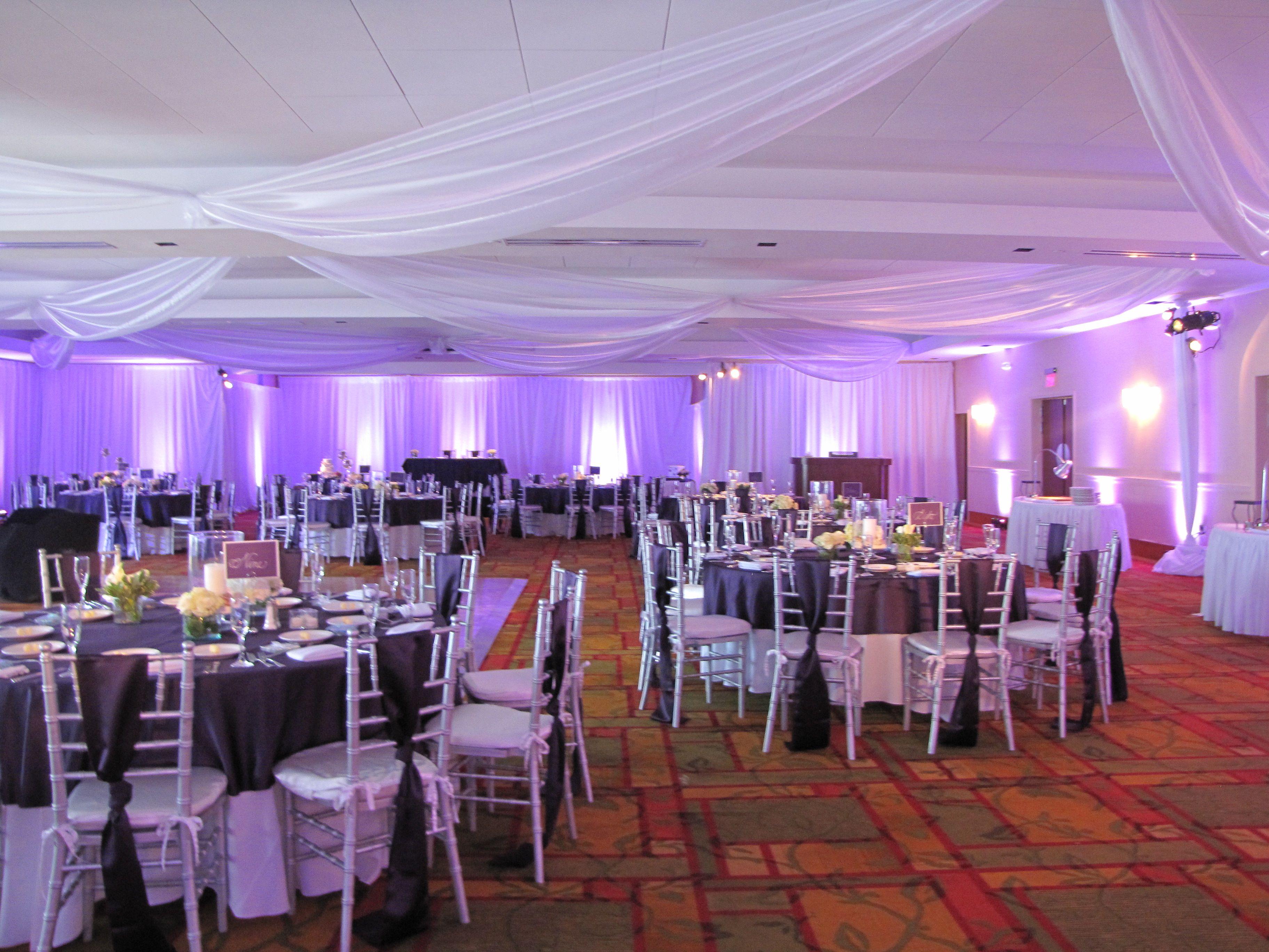 Purple Themed Wedding Reception In The Atlantis Ballroom Tulle