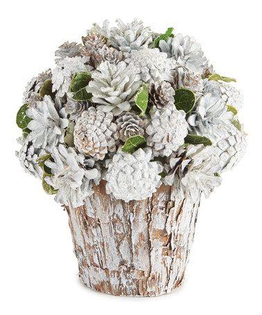 Another great find on #zulily! Veranda Winter Pinecone Arrangement #zulilyfinds