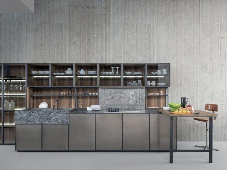 Cucina componibile con isola senza maniglie xp by zampieri