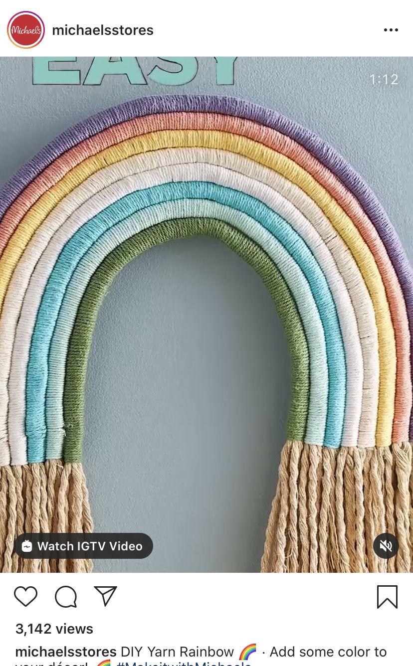Easy Rope Yarn Rainbow Michael S In 2020 Yarn Crochet Necklace
