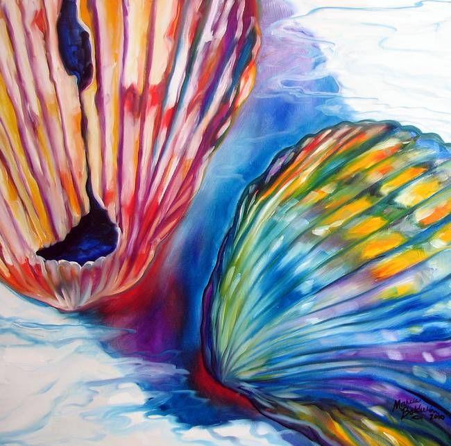 Seashell Abstract Ii By Marcia Baldwin Natural Form Art Natural Form Artists Seashell Drawing