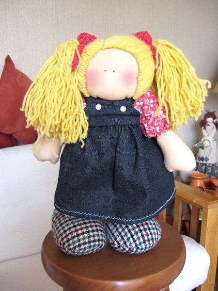 Patrones de esta muñeca pepona de trapo.