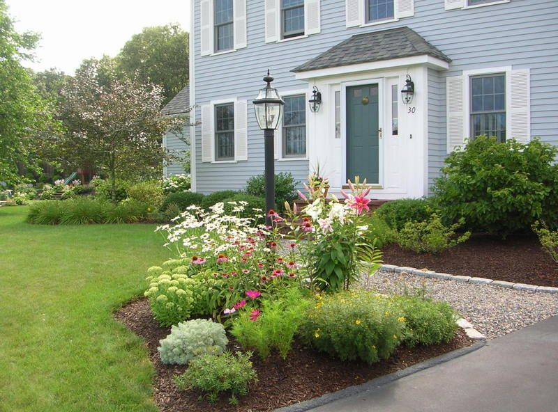 Driveway Entrance Flower Bed Ideas