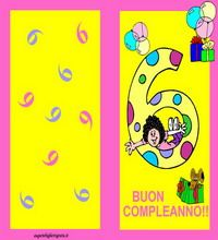 Auguri Buon Compleanno 6 Anni.Biglietti Di Auguri Per 6 Anni Auguri Di Compleanno
