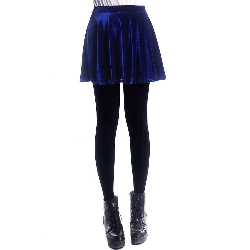 5f5ec530f Retro Style Velvet A-Line Flared Short Skirt in 2019 | Fall outfits ...