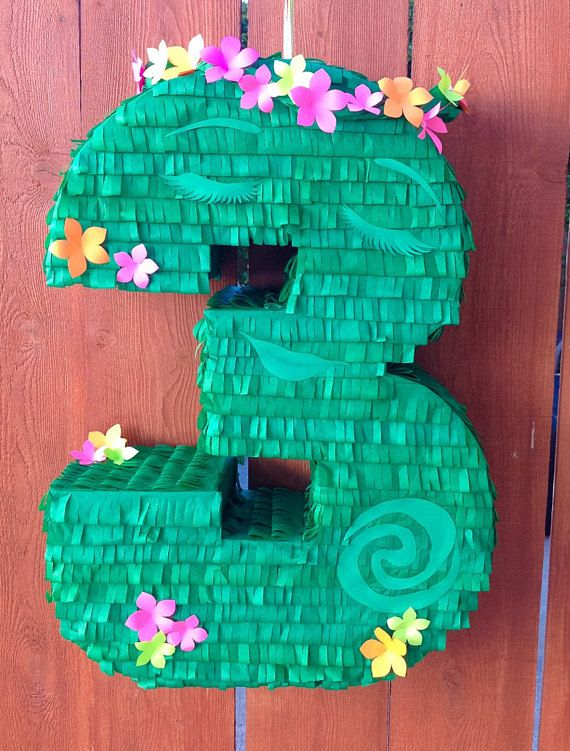 Te Fiti Inspired Piñata / Number Piñata / Moana Inspired Piñata / Moana Birthday Party Decorations