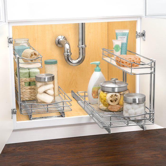 Kassel Outlests Kitchen Bath Cabinet: Lynk Professional® Slide Out Under Sink Cabinet Organizer