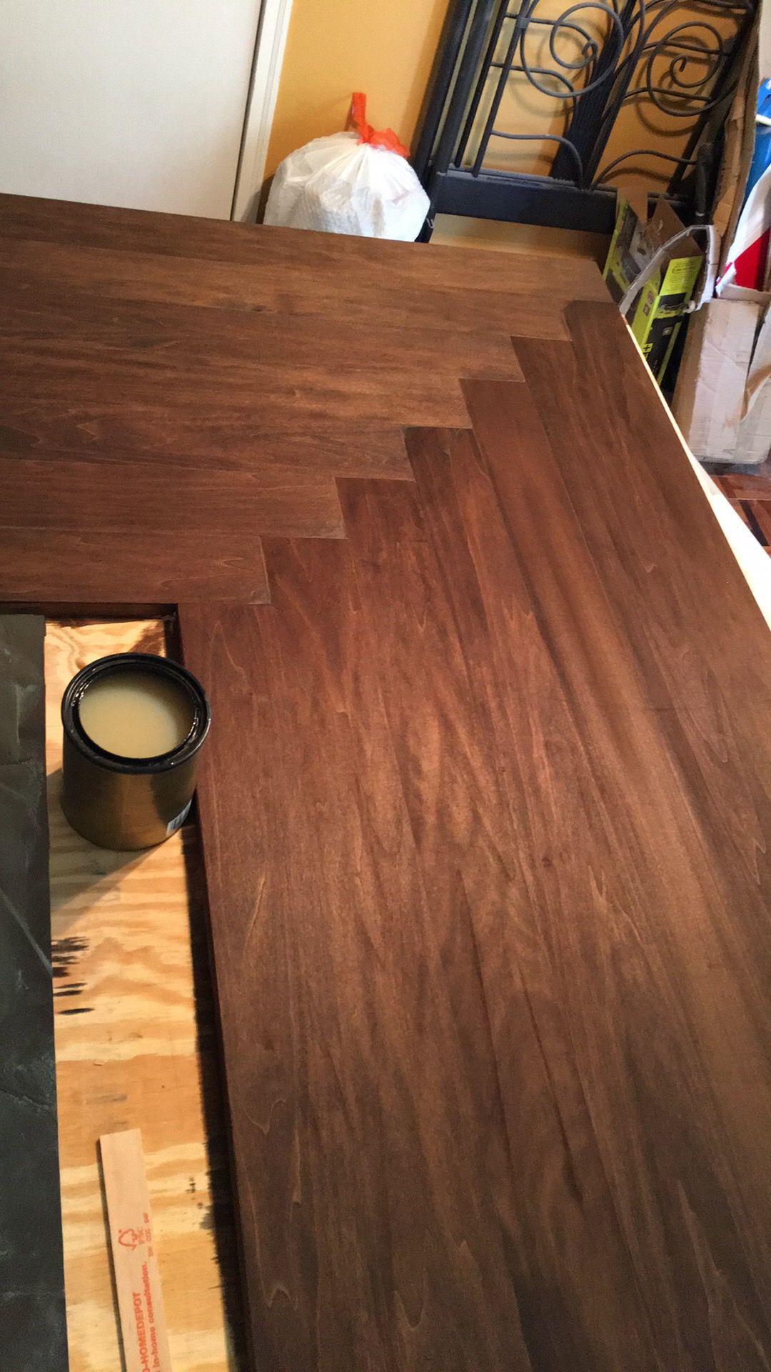 Used a little bit of medium walnut minwax stain to cover the wood used a little bit of medium walnut minwax stain to cover the wood filler in the nvjuhfo Images
