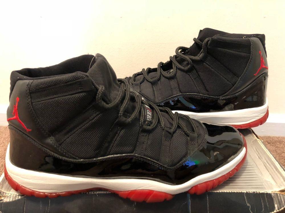 Used Nike Air Jordan 11 Retro Bred 2001 Size 15  fashion  clothing  shoes cb44231a8e