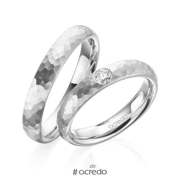 originales alianzas de boda en oro blanco. opciones en oro, platino