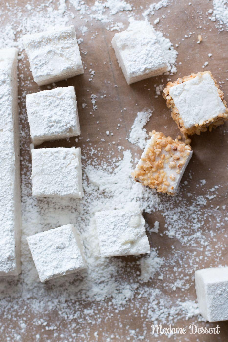 Rezept für vegane Marshmallows ohne Gelatine   Madame Dessert