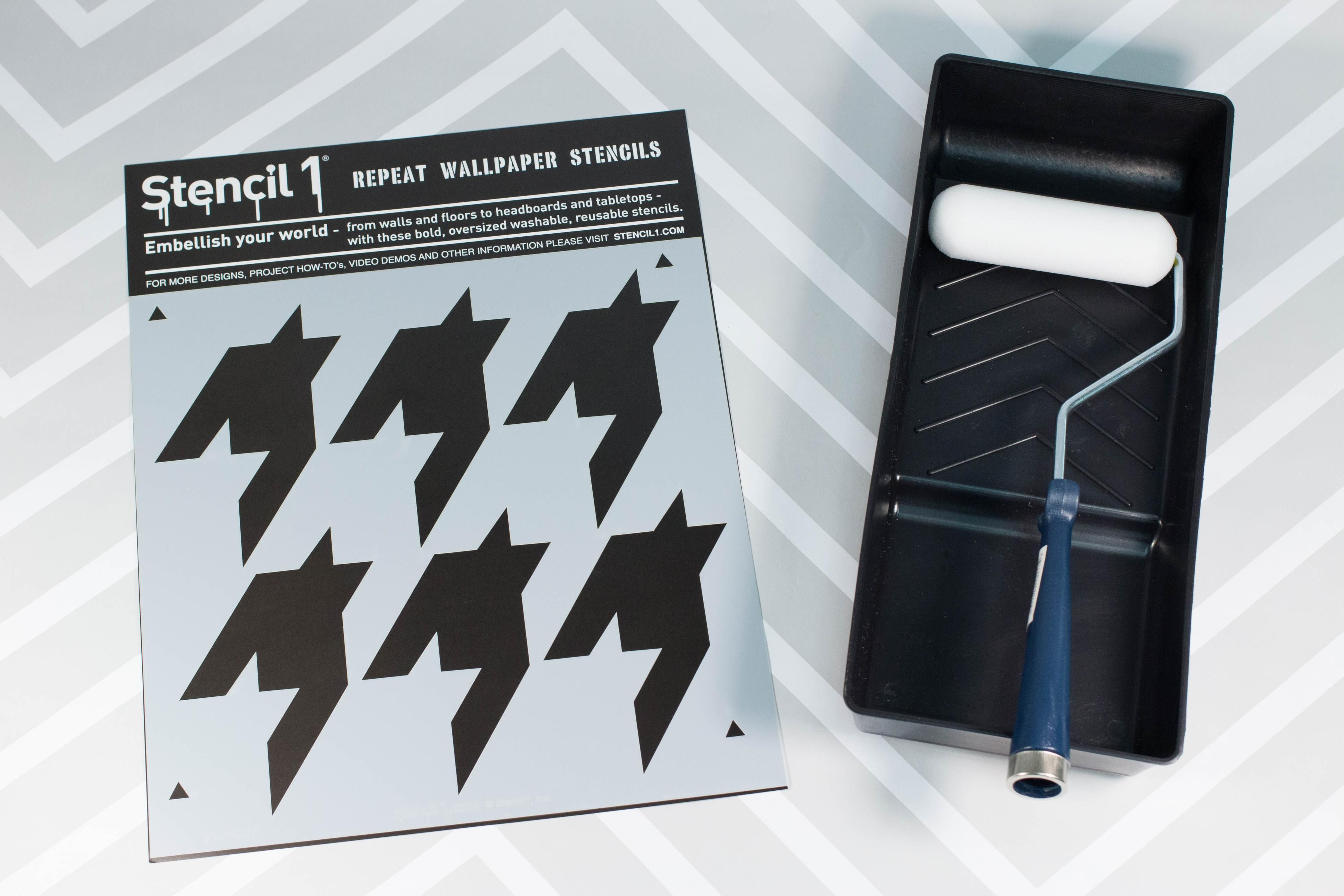 Win a stencil1 houndstooth wall stencil and paint roller set win a stencil1 houndstooth wall stencil and paint roller set amipublicfo Image collections