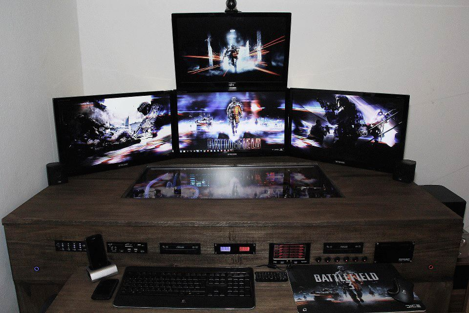Ideas For Computer Desk biurko narożne computer gaming | computer - komputer | pinterest