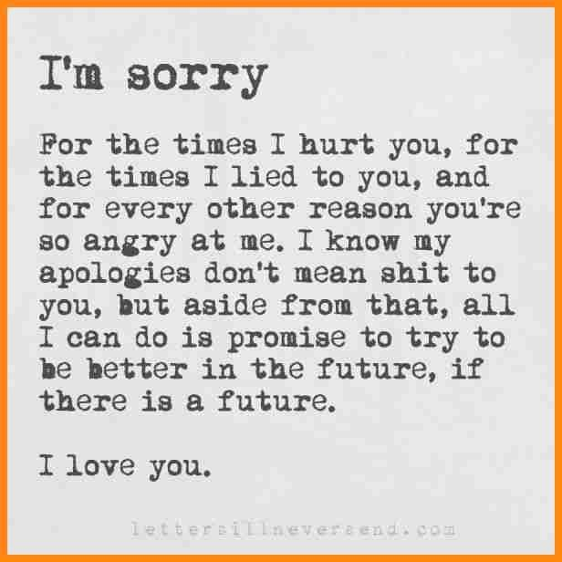Best Of Apology Letter To A Friend You Hurt Cover Letter Sorry Best Friend Quotes Apologizing Quotes Apology Quotes For Him