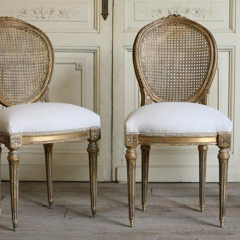 Pair Of Vintage Cane Side Chairs - Pair Of Vintage Cane Side Chairs French Charm In 2018 Pinterest