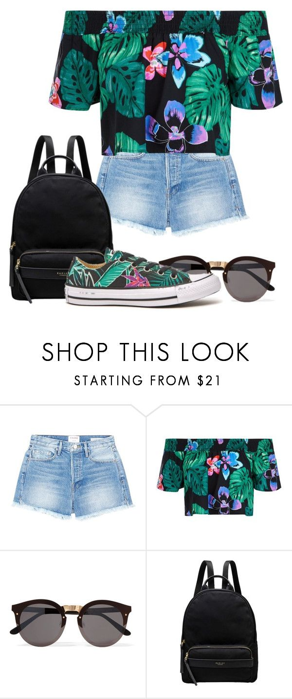 """""""Untitled #3707"""" by armamak ❤ liked on Polyvore featuring Frame, New Look, Illesteva, Radley and Converse"""
