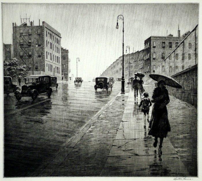 Martin Lewis (1881-1962) Rainy Day, Queens 1931   Art   Pinterest