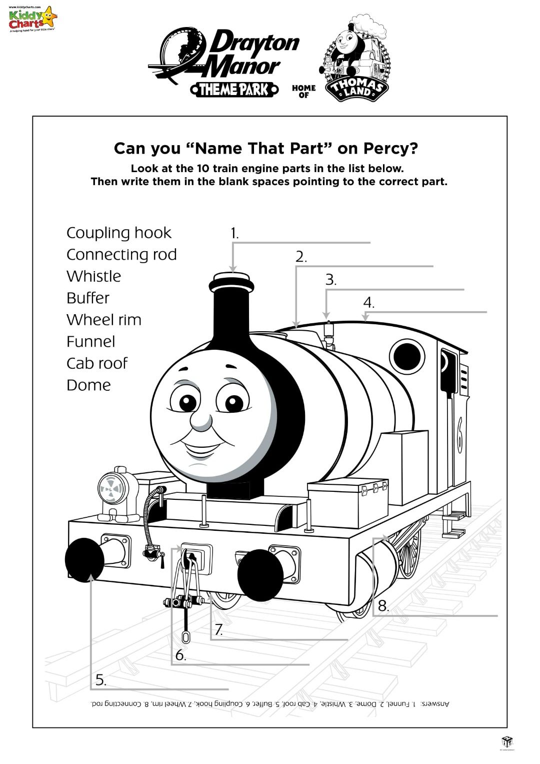 Thomas The Tank Engine Activity Sheets In