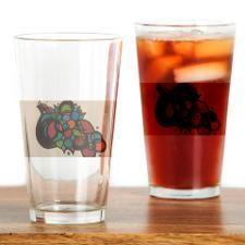 Rainbow Grapes Drinking Glass
