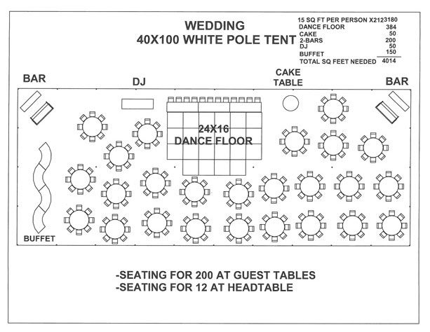 Wedding 40x100 White Pole Tent A Outdoor Wedding Reception Tent Wedding Reception Layout Wedding Tent Layout