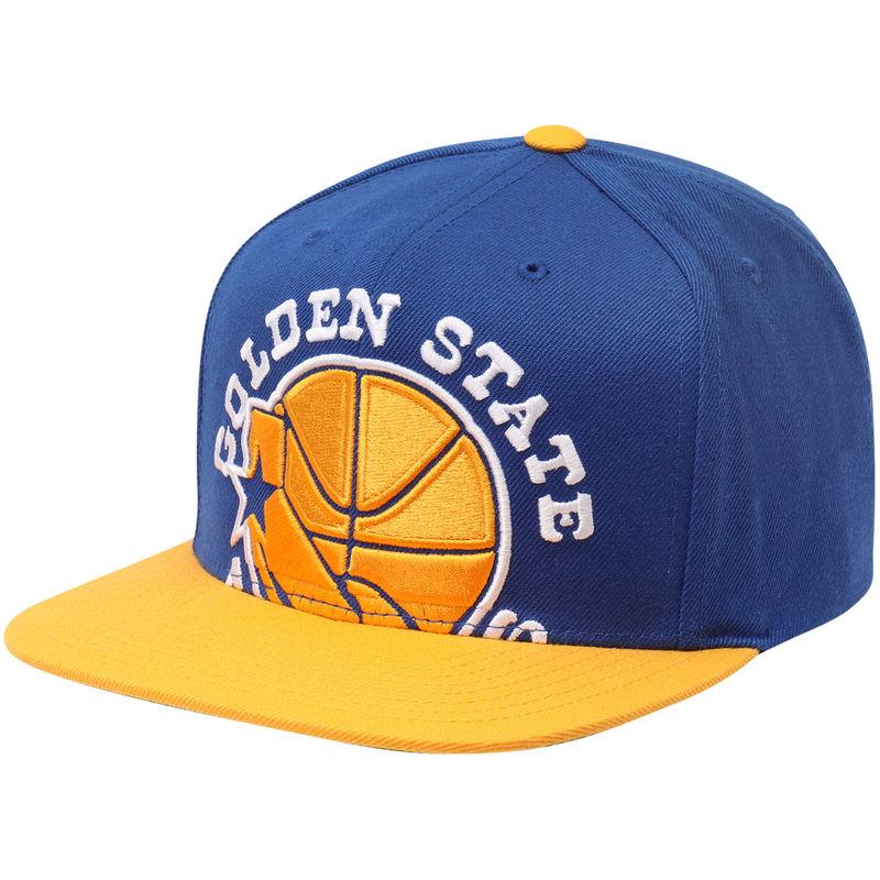 Golden State Warriors Mitchell Ness Hardwood Classics Cropped Xl Logo Adjustable Snapback Hat Royal Mitchell Ness Snapback Hats Adjustable Hat