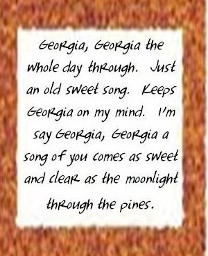 Georgia state song lyrics