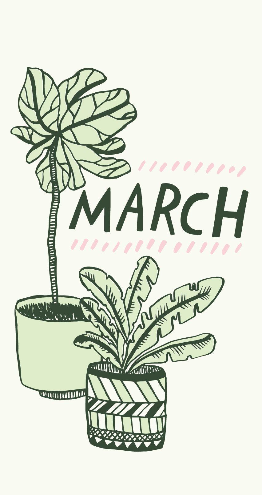 March Desktop Downloads! Nature iphone wallpaper, Simple