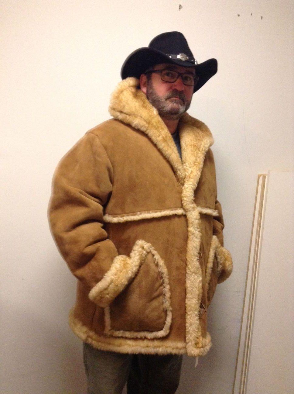 Mens country marlboro sheep skin coat ebay coat