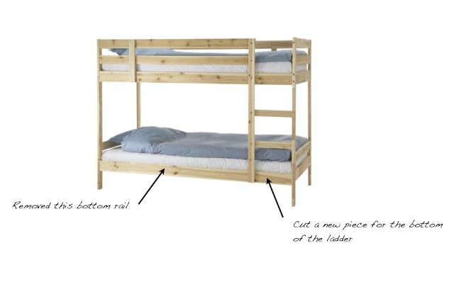 A Mydal Bunk Bed Upgrade Ikea Bunk Bed Hack Ikea Bunk Bed Ikea Bed