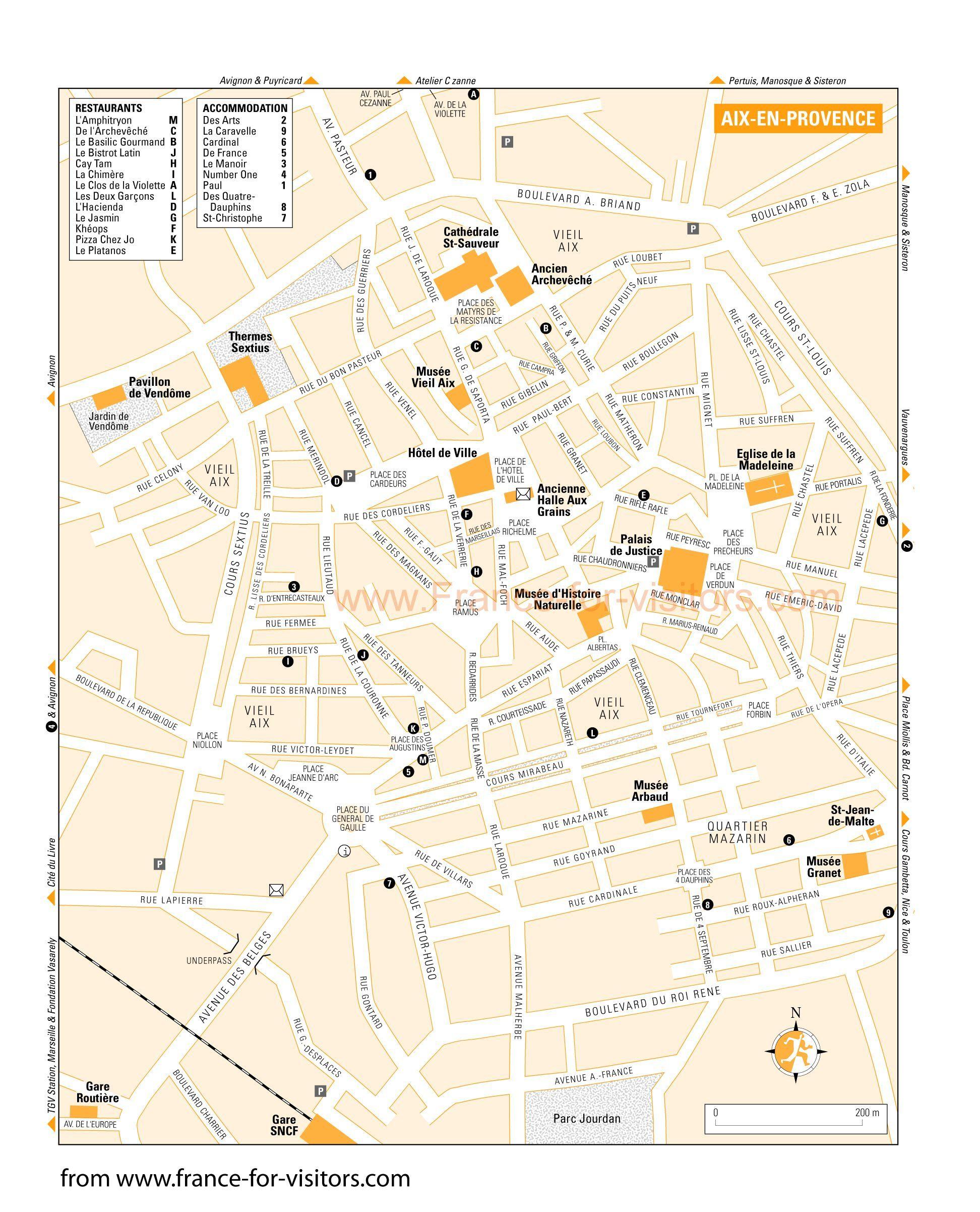 Aix en Provence Map aix en provence La Belle France Pinterest