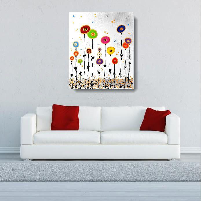 Produzione quadri moderni astratti 100 dipinti a mano for Quadri moderni fiori dipinti a mano