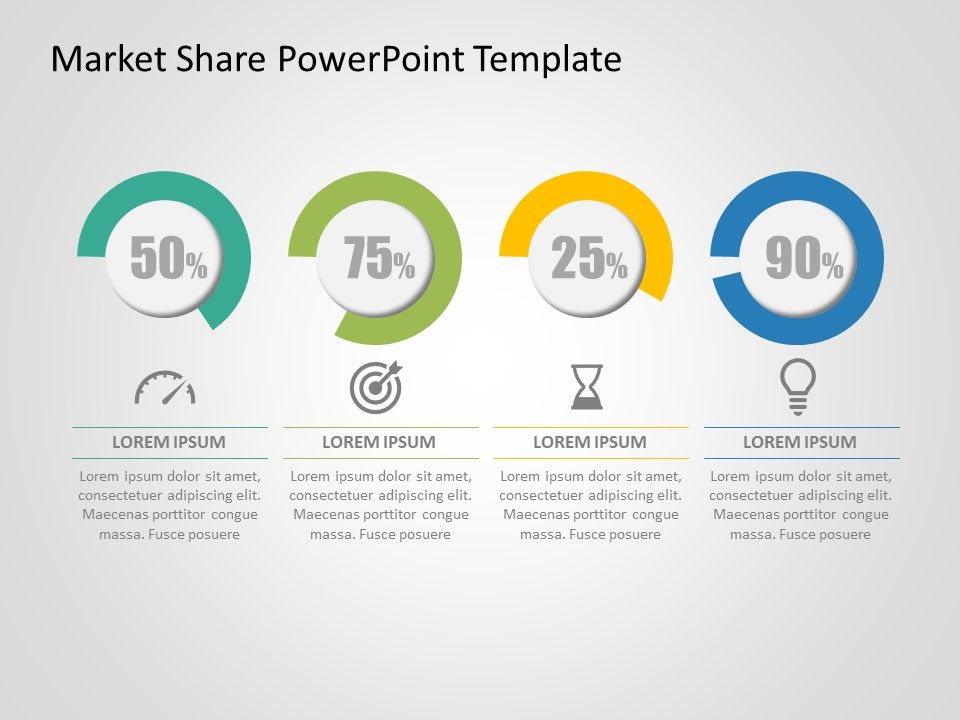 Market Share PowerPoint Template Powerpoint templates