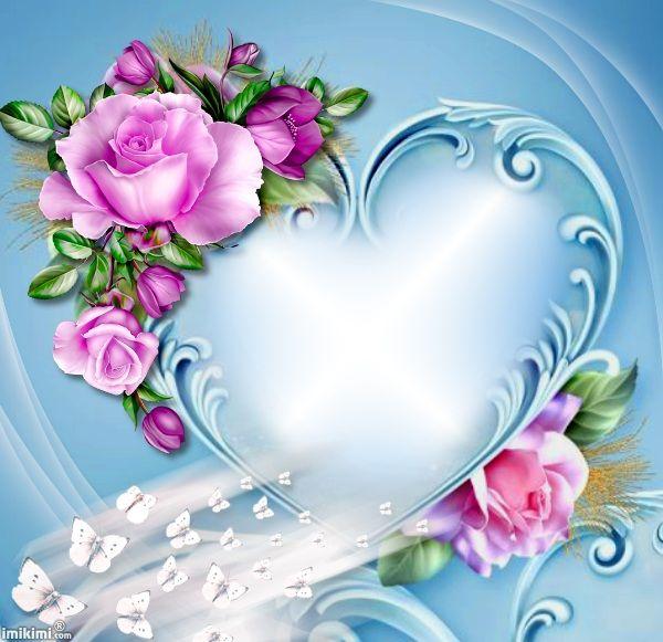 Lissy Beautiful Heart Pink Flowers Wallpaper Wallpaper Nature Flowers Flower Frame Beautiful heart love wallpaper
