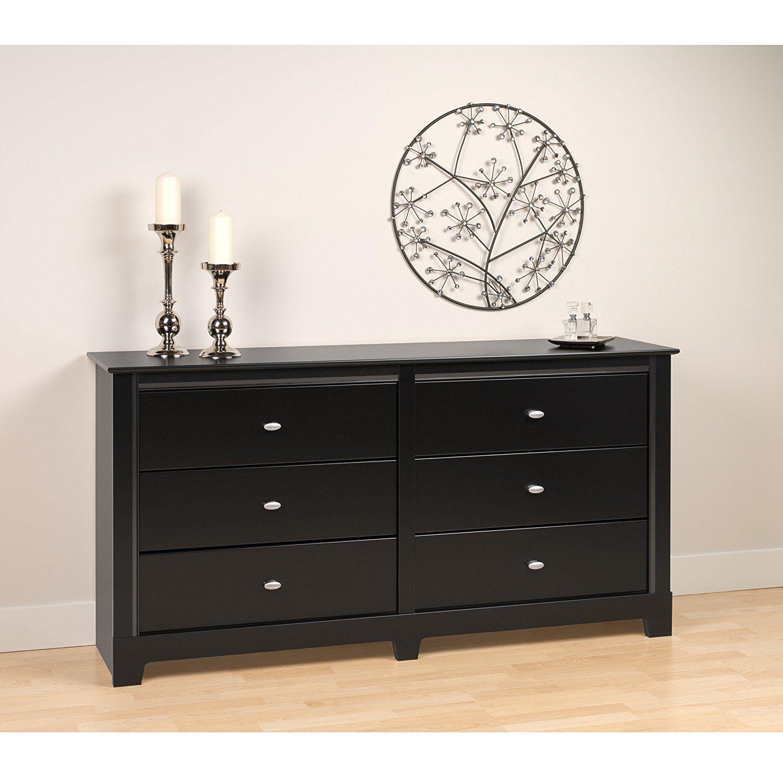 Best Amazon Com Black Kallisto 6 Drawer Dresser Kitchen 400 x 300