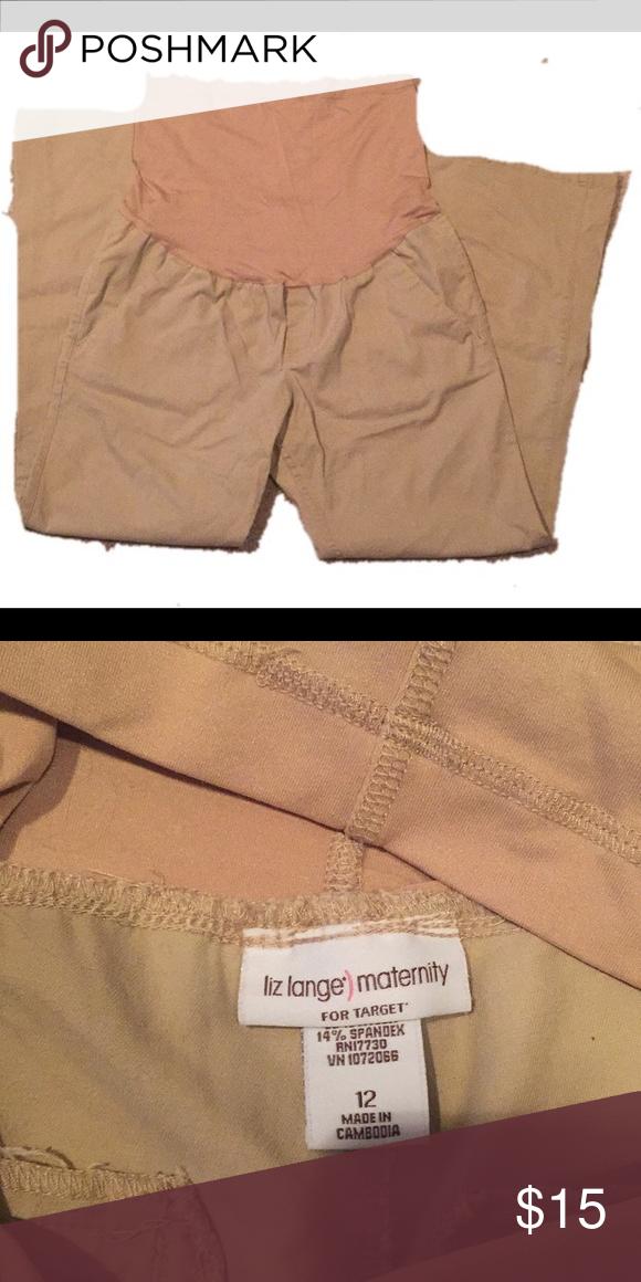 4153fe4be8461 Liz Lange tan maternity pants size 12 Tan Maternity pants, size12 Liz Lange  for Target