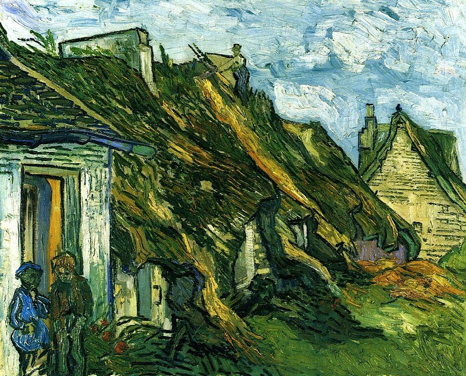 Old Cottages Chaponval Vincent Van Gogh 1890 Artistic