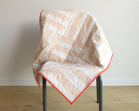Handmade Minimalist Modern Baby Quilt