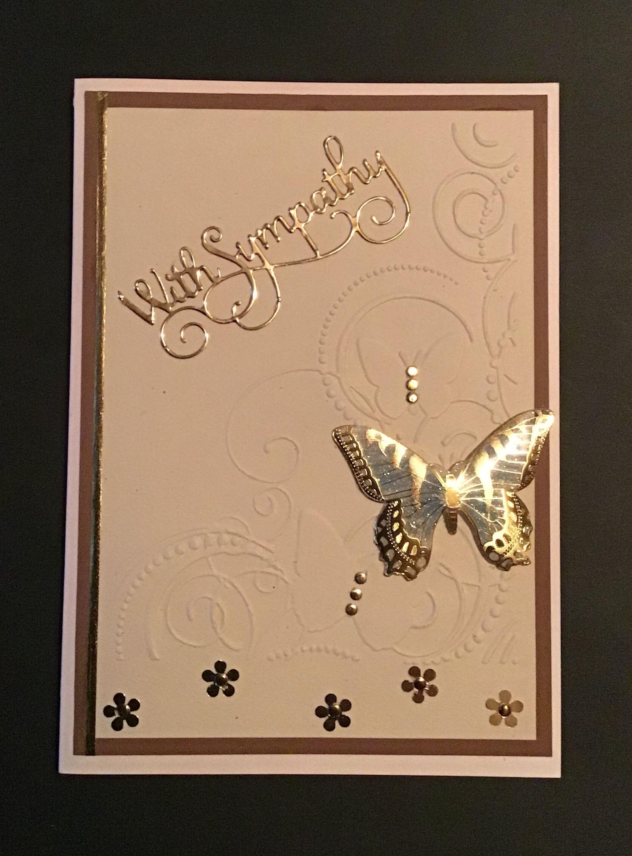 Handmade diy sympathy card sympathy cards handmade