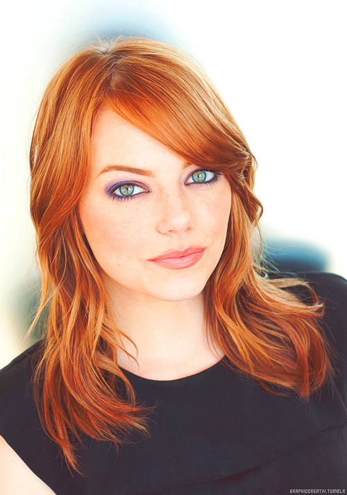 emma stone rousse aux yeux verts comment maquiller. Black Bedroom Furniture Sets. Home Design Ideas