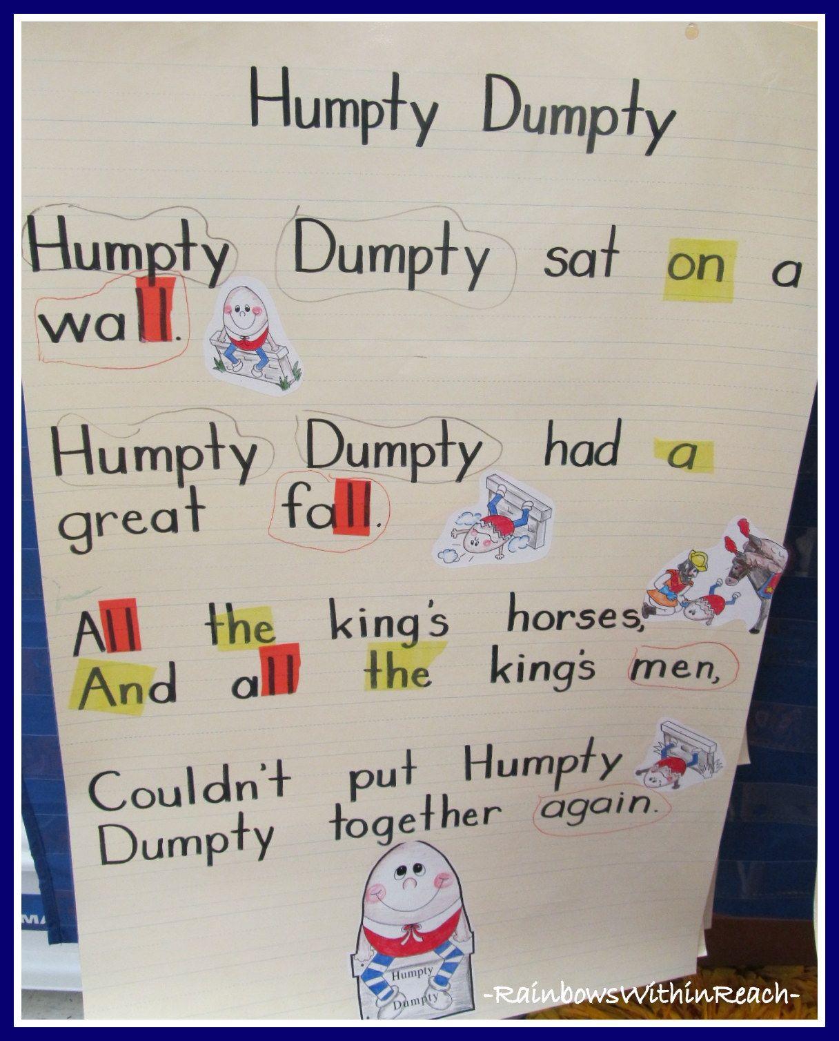 Humpty Dumpty Nursery Rhyme