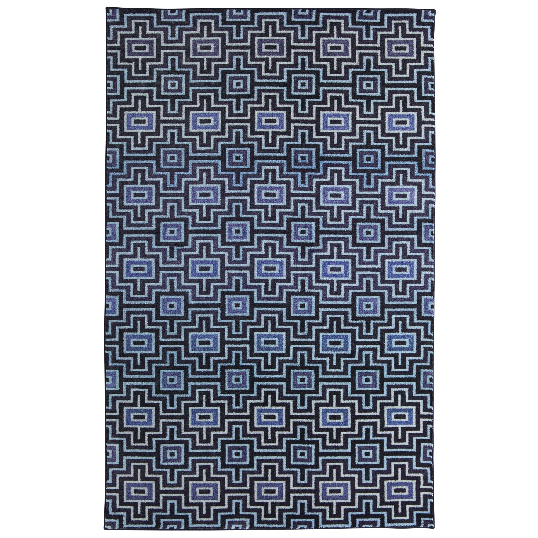 Mohawk Prismatic Linear Maze Blue Geometric Area Rug 8 X 10 8 X 10 Navy Area Rugs Colorful Rugs 8x10 Area Rugs